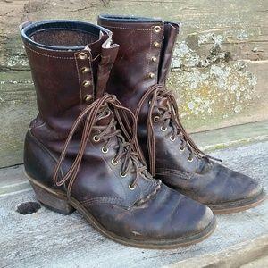 Chippewa Boots, Beautifully Broken-In! Size 9.5E